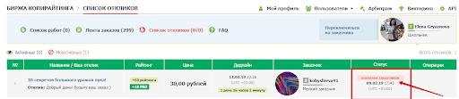 text.ru заявка отклонена