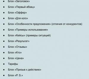 блоки продающих текстов