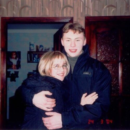 Виктория Закальная с мужем