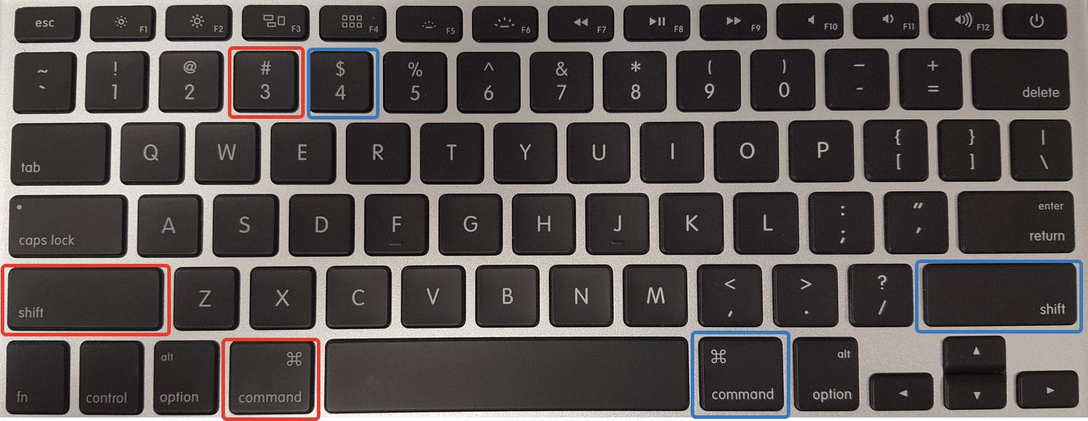 скриншот в MacOS