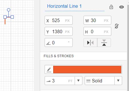 Horizontal line в мокапс