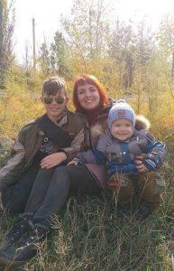 Елена Кревская С детьми